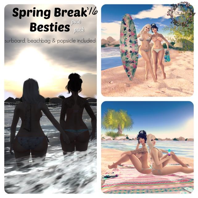 Spring Break Besties - Pose Pack AD